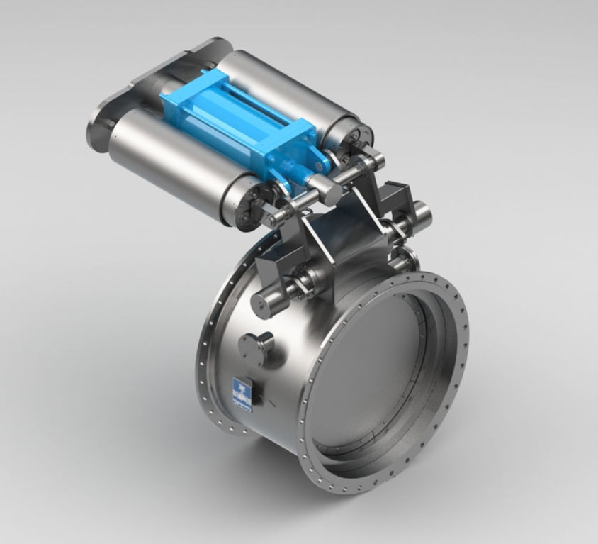SAFETY QUICK-CLOSING BUTTERFLY FLAP VALVE TYPE PKIII/D