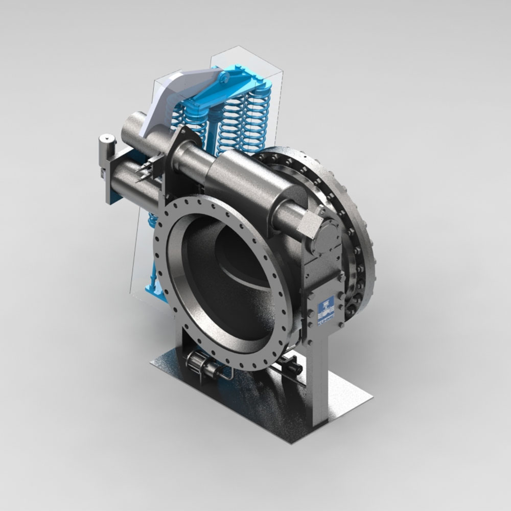 automatische Absperrklappe - Schnellschlussklappe