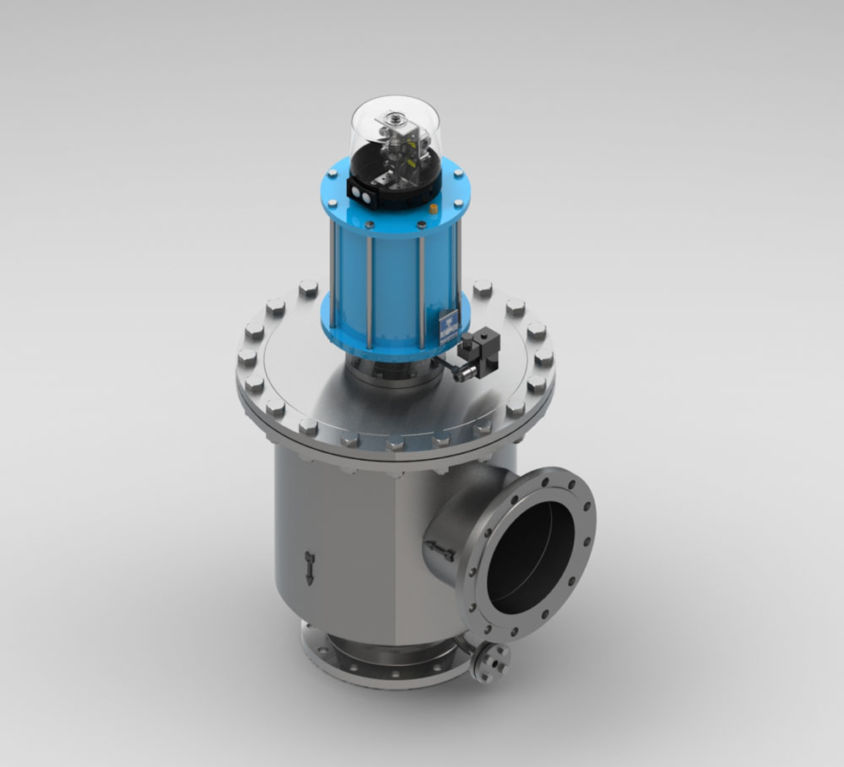 QUICK-CLOSING VALVE IN DOUBLE SEAT DESIGN TYPE KVII/FD