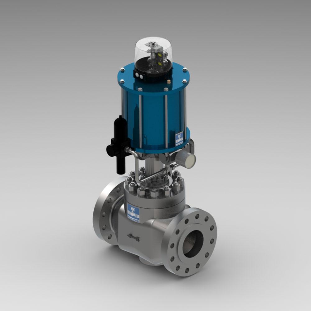automatisches Absperrventil für gasfoermige-Medien