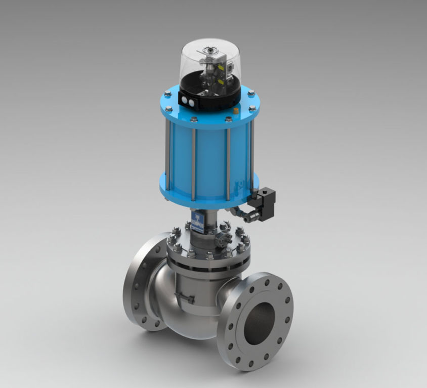 GAS TURBINE QUICK-CLOSING VALVE TYPE KVH-HT