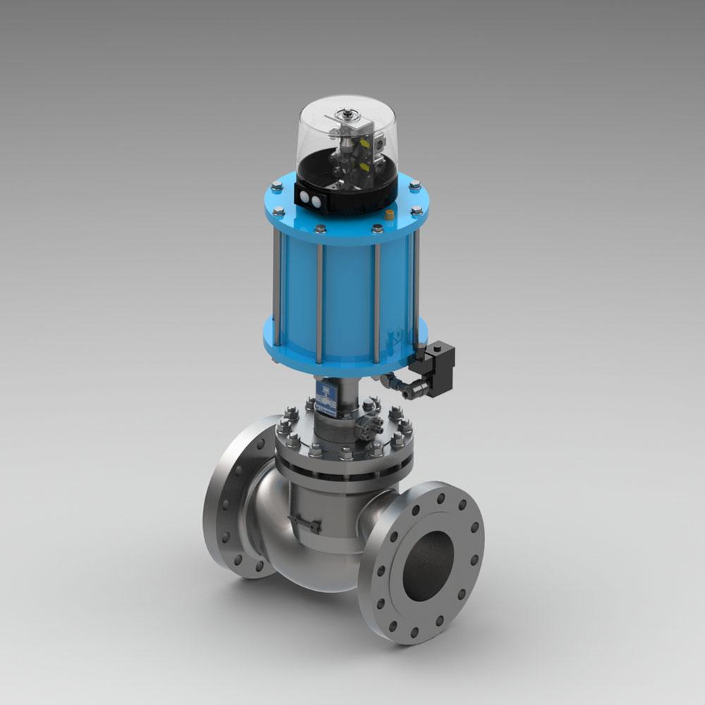 automatisches Absperrventil für gasförmige Medien