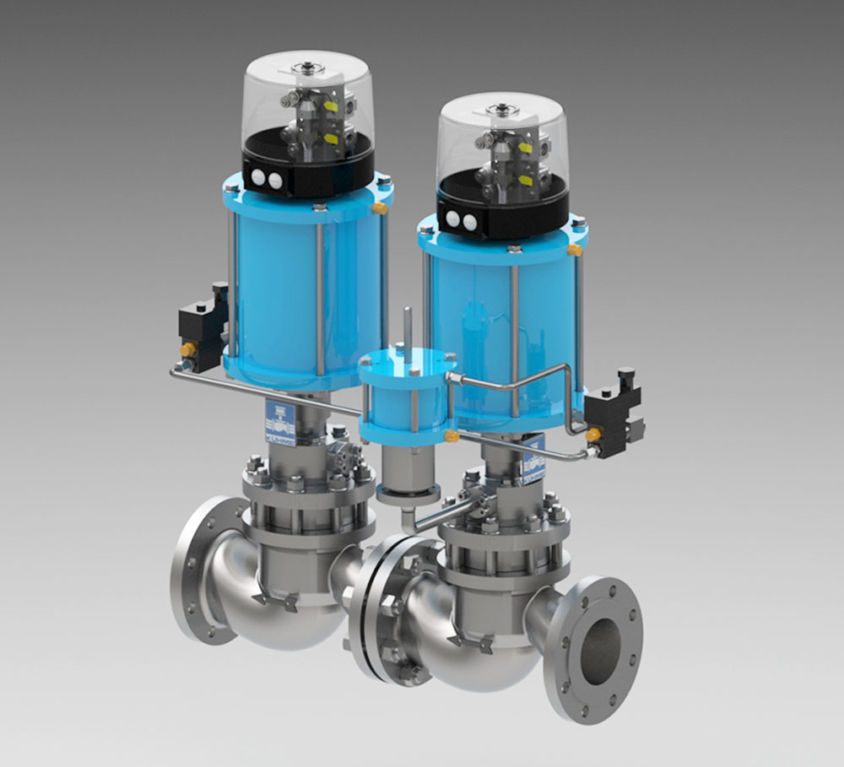 COMBINATION OF GAS TURBINE QUICK-CLOSING VALVES TYPE KVH-KVH