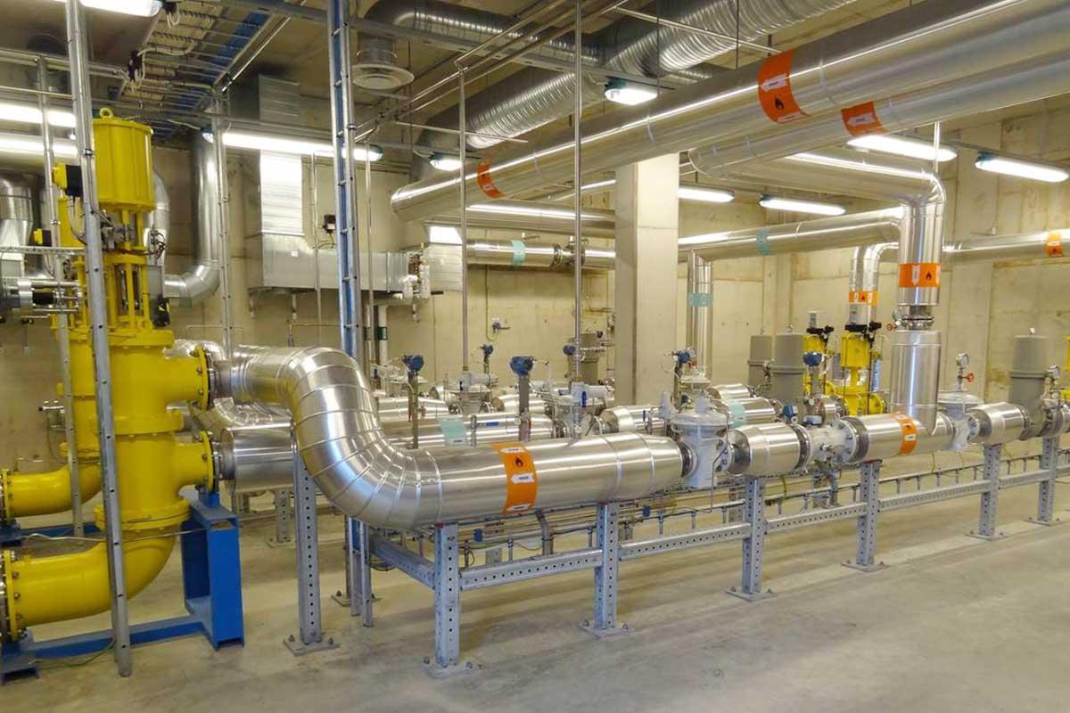 Sicht in eine Biogas-Mischanlage