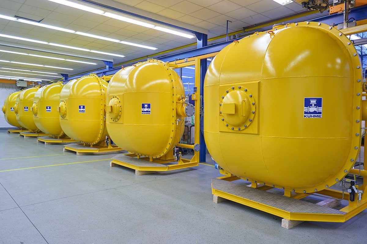 Gas Valve Units Typ 3D-GVU nebeneinander