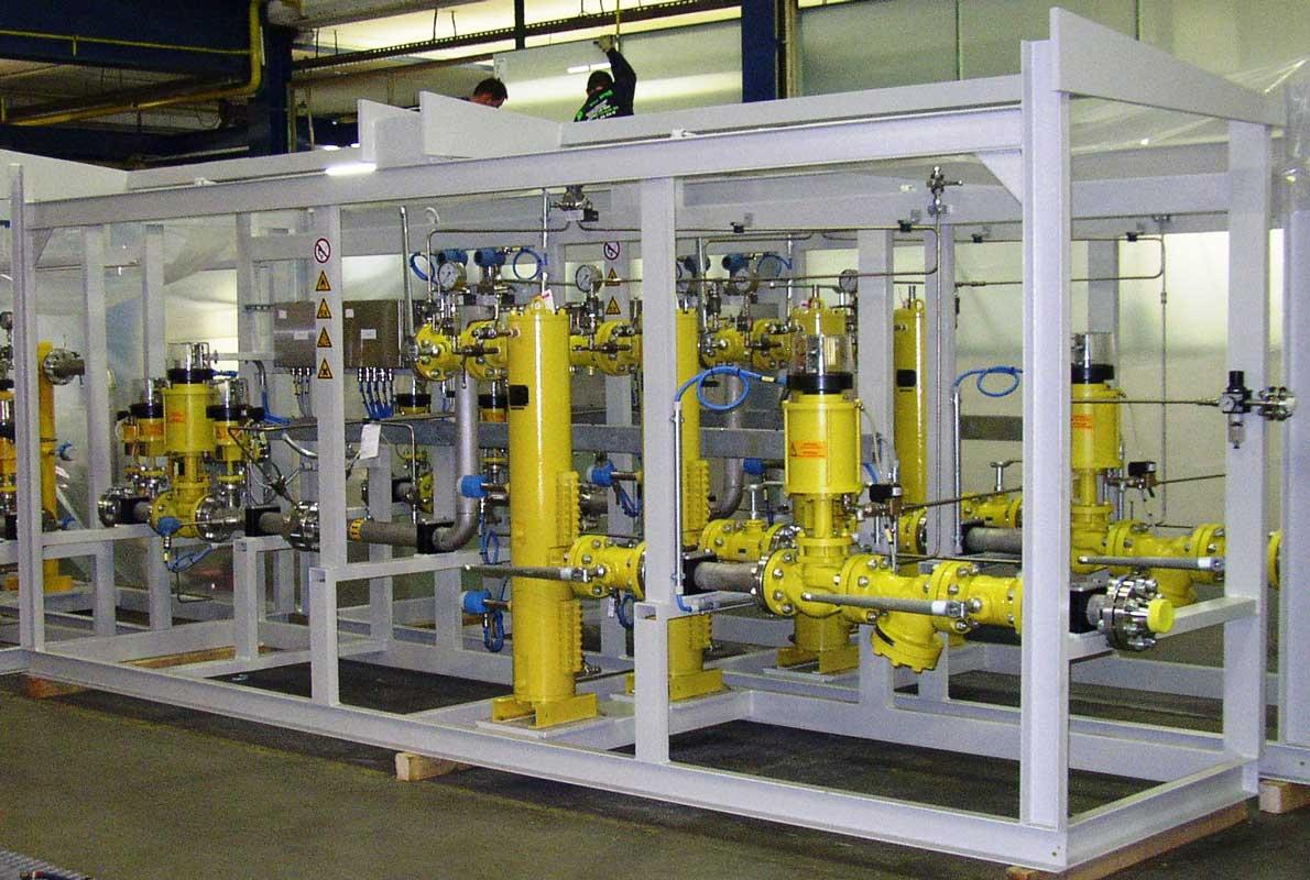 Gasturbinen-Brennstoffskid