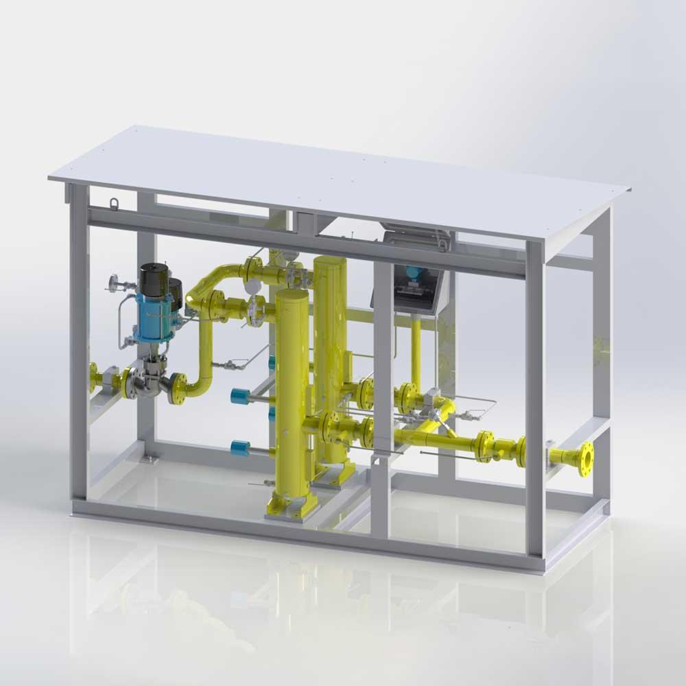 Gasturbinen-Brennstoffskids