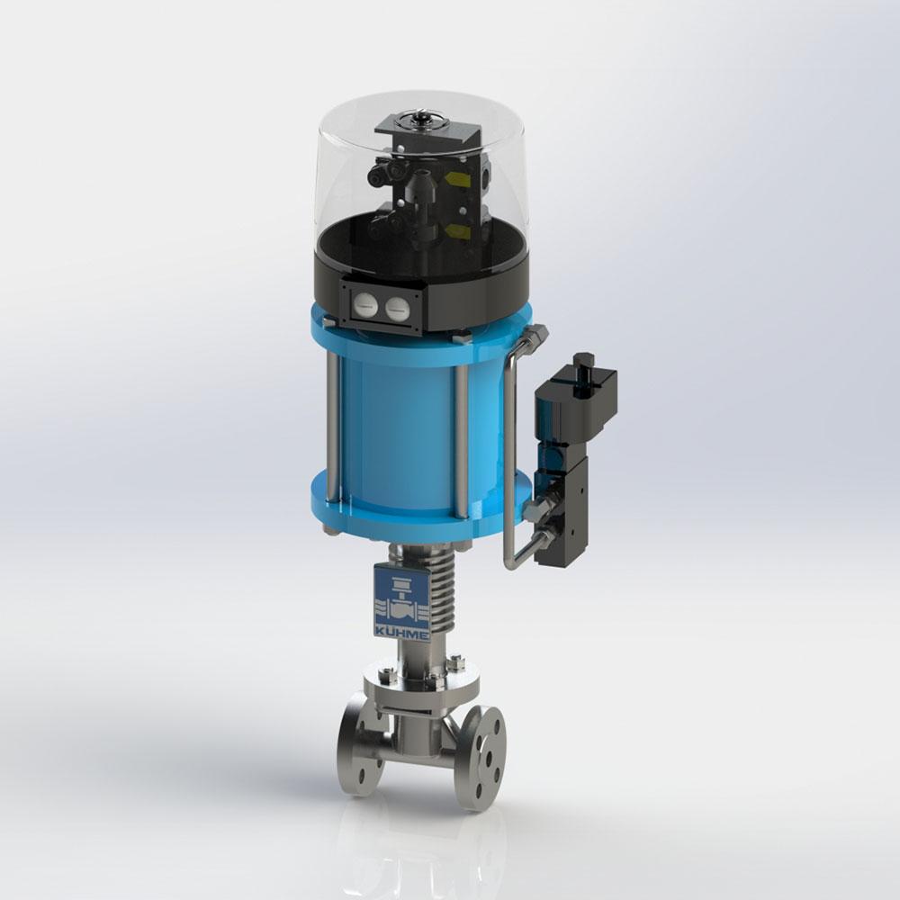 automatische Schnellschlussventil für dampfförmige Medien KVF