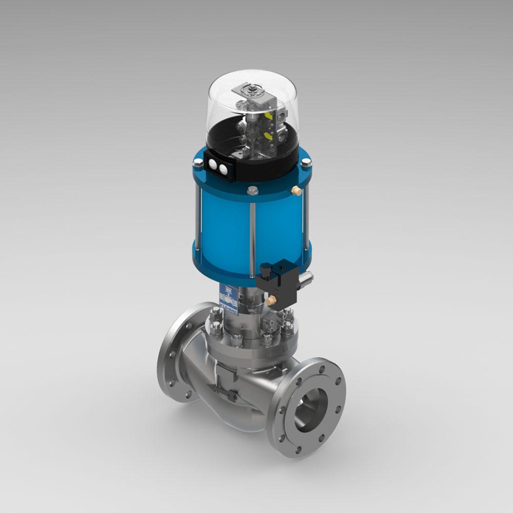 automatisches Schnellschlussventil für gasförmige Medien KVH
