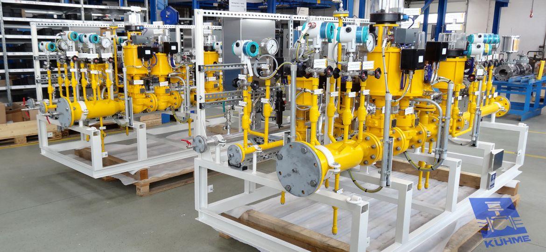 KÜHME Skids for gas supply
